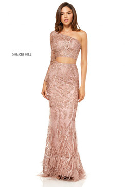 Sherri Hill 52555 Two Piece One Shoulder Dress