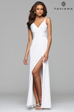 Faviana 7755 Ivory Dress