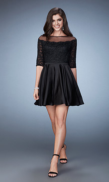 La Femme 23345 Short Black Dress