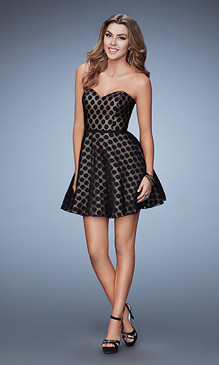 La Femme 23392 Short Polka Dot Dress