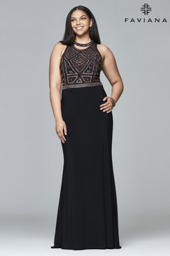 Faviana 9395 Plus Size Jersey Dress