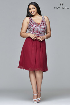 Faviana 9409 Short Plus Size Dress