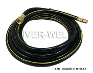 Power Cable Hose For PT-31 LG40 Plasma Cutter Torch 14Feet 3/8-24 inside M16*1.5