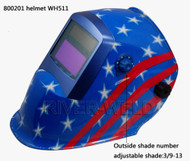 AUTO-DARKENING WELDING HELMET Li-Mi & Solar Combination Blue Colour