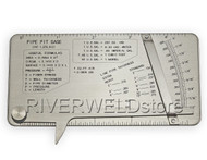 RIVERWELD Pipe Pit Welding Gauge Gage Test Ulnar Welder Inspection