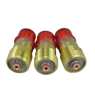 "TIG Stubby Gas Lens 17GL116 1/16"" & 1.6mm Fit For SR WP 17 18 26 TIG Welding Torch 3pk"