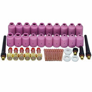 TIG Gas Lens Collets Bodies Alumina Nozzle Kit Fit QQ300 PTA DB SR CK WP 17 18 26 TIG Welding Torch 43pcs