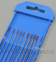 "2% Thoriated WT20 Red TIG Tungsten Electrode 6"" Assorted Size 0.040""& 1/16"" 10pk"