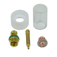 """Gas Saver Wedge Collet Pyrex Cup Consumable 0.040"""" Kit for DB PTA SR WP 17 18 26 TIG Welding Torch 5pcs"""