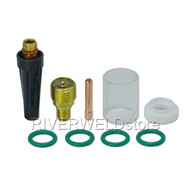"""#10 Pyrex Cup and TIG Gas Lens Collet Body 1/16"""" Kit CK WP 9 20 25 TIG Welding Torch 9pcs"""