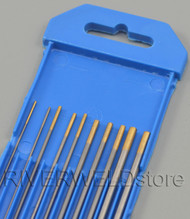 "1.5% Lanthanated TIG Tungsten Electrode WL15 Gold Assorted Size 0.040""~1/8"" 10pcs"