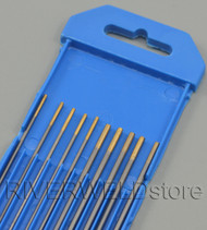 "1.5% Lanthanated TIG Tungsten Electrode WL15 Gold Assorted Size 1/16""(5) 3/32""(5)"