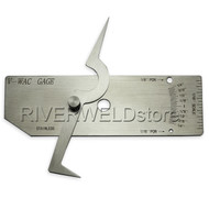 V-WAC Single Weld Gauge Gage Fit Welding Inspection Inch Stainless