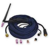 WP 9 WP-9FV 125Amp TIG Welding Torch Complete 12 Feet Air-Cooled Flexible And Valve