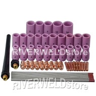60pcs TIG KIT Nozzle, Collets Bodies Tungsten Fit TIG Torch WP SR PDA DB 9 20 25