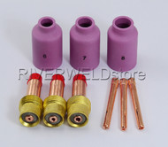TIG KIT Gas Lens Collet Body 45V26 10N24 Fit TIG Torch SR PTA WP 17 18 26 9PK