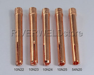 10N22 10N23 10N24 10N25 54N20 TIG Collet Fit DB SR WP17 18 26 TIG Welding Torch 5PK