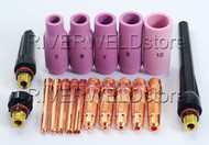 TIG Collet Body Consumables Accessorie KIT SR WP-17 18 26 TIG Welding Torch 18PK