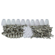 235pcs Esab PT-31 LG-40 Plasma Cutting Torch Consumables EXTENDED Nickel-plated