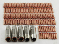 Contact Tip M6 25mm Conical Nozzle Fit MB 15AK MIG/MAG Welding Torch 145PK