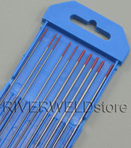 "2% Thoriated Red WT20 TIG Tungsten Electrode Assorted Size 0.040""(5)and 1/16""(5)"