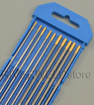 "1.5% Lanthanated TIG Welding Tungsten Electrodes Assorted Size 3/32""(5pcs) &1/8""(5pcs)"