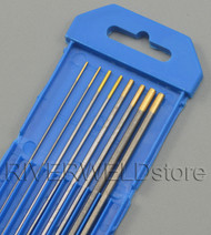 "1.5% Lanthanated TIG Welding Tungsten Electrodes Assorted Size 0.040""~1/8"",8pcs"