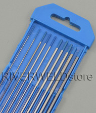 """2% Lanthanated Sky Blue Tungsten Electrode Assorted Size 040""""-1/16""""-3/32""""-1/8"""",10pcs"""