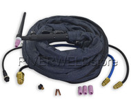 WP-20FV-25 TIG Welding Torch Flexible With Valve Water Cooled 25 Feet
