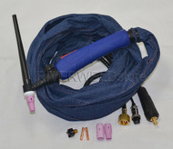 WP-9V-12E-2 CK25 TIG Welding Torch With Valve Air Cooled 12 Feet