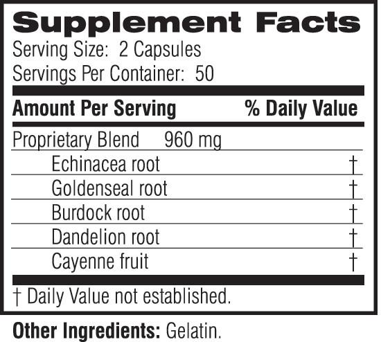 Unicity SIG 100 Capsules #15907, Ingredients