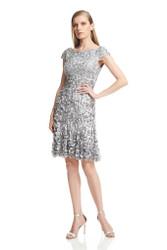 Theia Resort 2016 3/4 Sleeve Petal Flared Dress