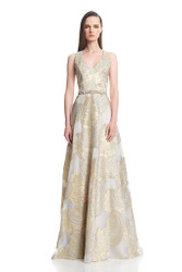 Theia Resort 2016 Beaded Belt Ballgown