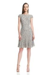 Theia Resort 2016 Cap Sleeve Crunchy Sequin Dress