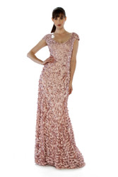 Theia V-Neck Petal Gown