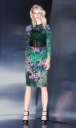 Escada Cardigan, Skirt, and Belt Combo