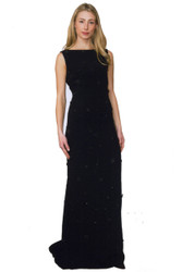 Catherine Regehr Back Drape Gown with Gems