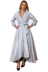 Catherine Regehr Classic Shawl Collar Gown with High Low Hem
