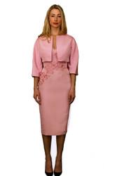 "Catherine Regehr ""Apple Blossom"" Camisole Dress and Vintage Jewel Neck Jacket Combo"