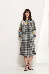 Blumarine Gingham Coat