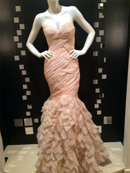 Stephen Yearick Petal Rouched Blush Gown