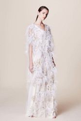 Marchesa Floral Embroidered Caftan