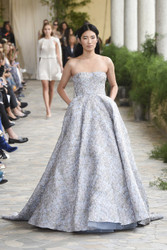 Luisa Beccaria Brocade Bustier Ball Gown