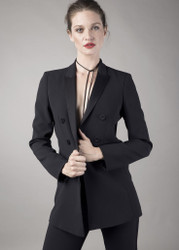 Georges Rech Crepe Satin Suit Jacket: Pre-Fall 2017