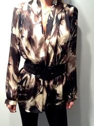 Blumarine Flora Print L/S Dress
