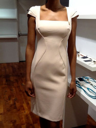 Roberto Cavalli Cap Sleeve Sheath Dress