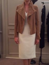 Amanda Wakely Brown Waist Length Jacket