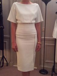 Amanda Wakely White Short Sleeve Dress