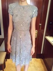 Naeem Khan Light Gray Patterned Dress