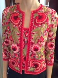 Naeem Khan Floral Sweater